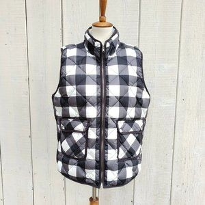 Woolrich Check Plaid Down Quilted Puffer Vest XL